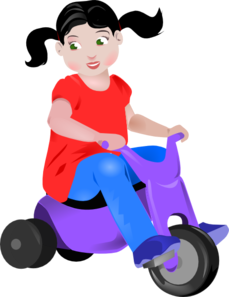 Tricycle toddler clipart