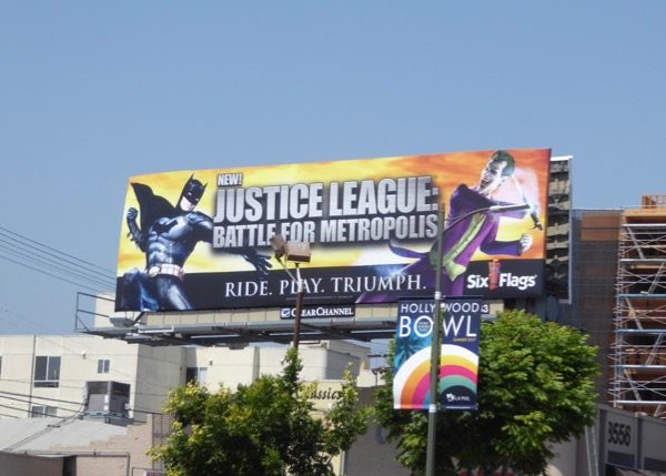 Justice League Metropolis Six Flags billboard