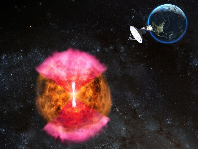 Radio observations point to likely explanation for neutron-star merger phenomena