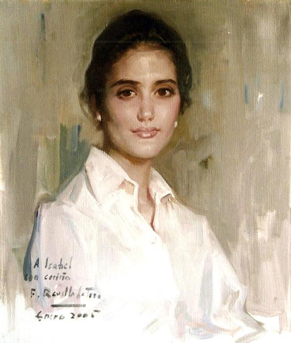 Retrato de María Isabel, Félix Revello de Toro, Revello de Toro, Pintores Malagueños, Retratos de Revello de Toro, Pintor español, Pintores de Málaga
