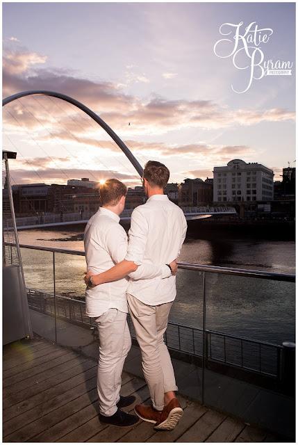 sunset, golden hour,baltic centre for contemporary art, newcastle baltic, art gallery wedding, katie byram photography, gay wedding, same sex wedding, same sex couples, gay wedding photographer,