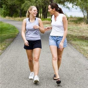 Go for a walk with a friend to relieve your stress