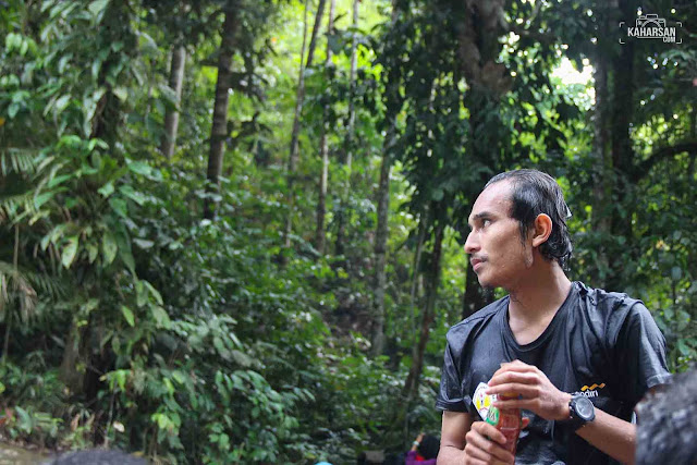 Makan Air Terjun Tengai' Wisata Kec Nanga Mahap Kab Sekadau - kaharsan