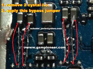 mic Problem iphone 3g Solution     1. remove tow cystal i. c 2. apply this bypass jumper