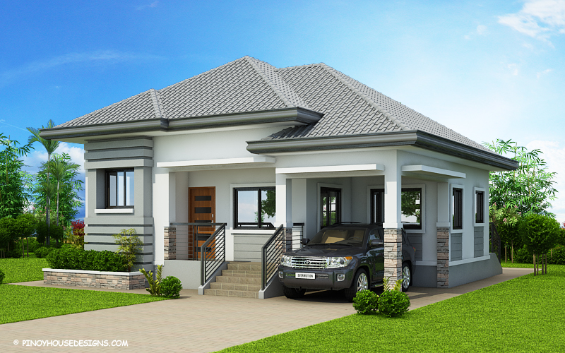 Georgeus%2BThree%2BBedroom%2BHouse%2BPlan%2B %2BMyhouseplanshop - 22+ Simple Very Small House 1 Bedroom House Design PNG