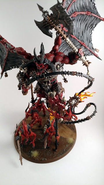 Bloodthirster of Unfettered Fury with the Lash of Khorne Painted