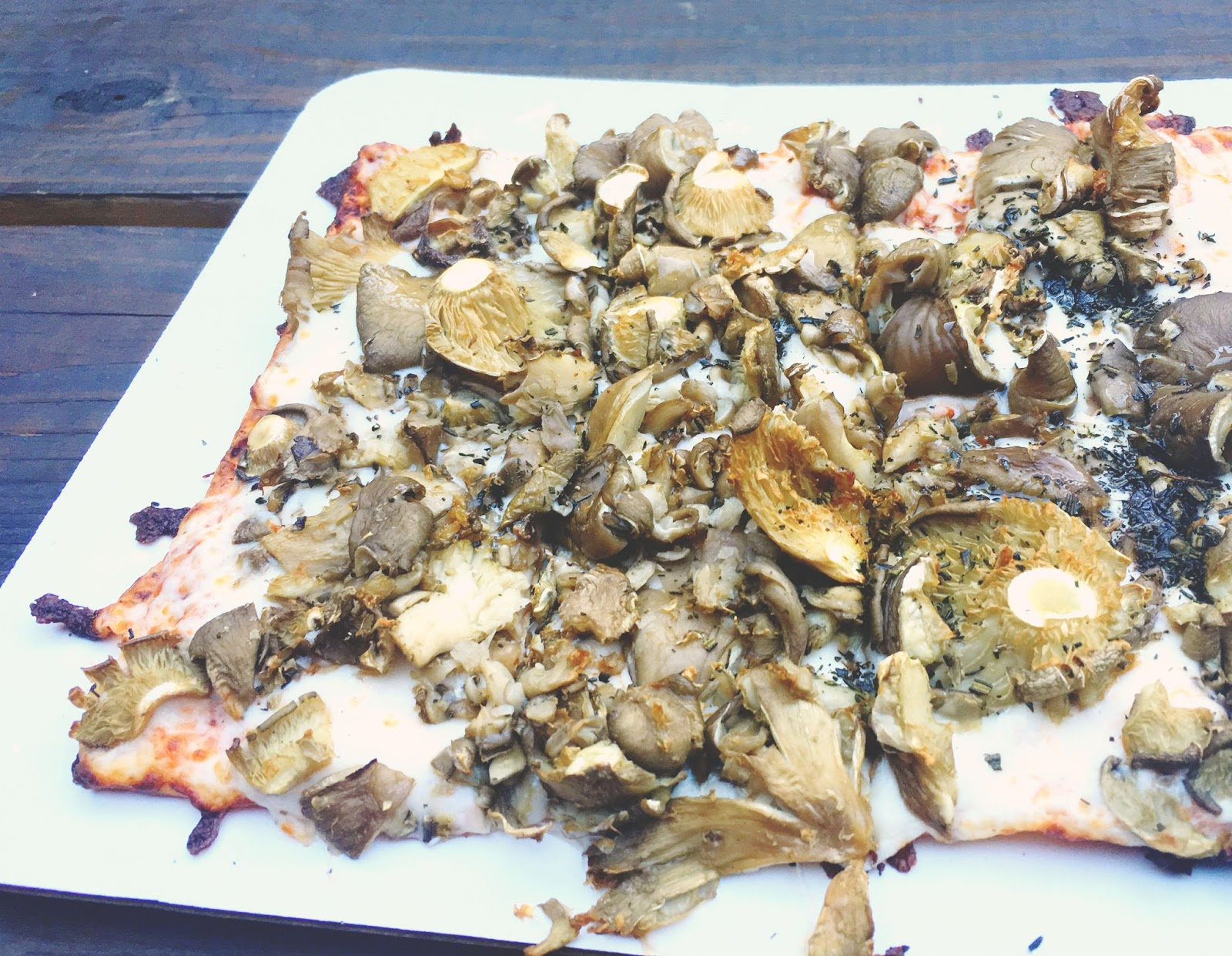truffle mushroom pizza at Boheme - a restaurant in Houston, Texas