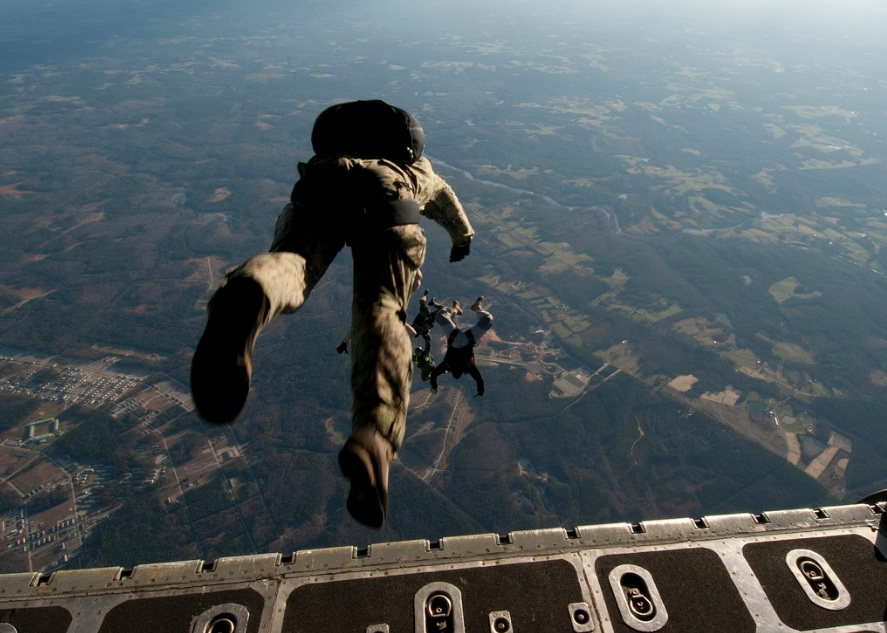 Navy seal, parachute, paratroopers