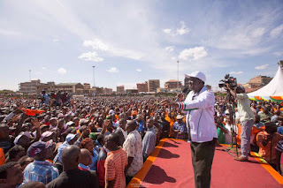 Raila Odinga in tononoka mombasa. photo | bana