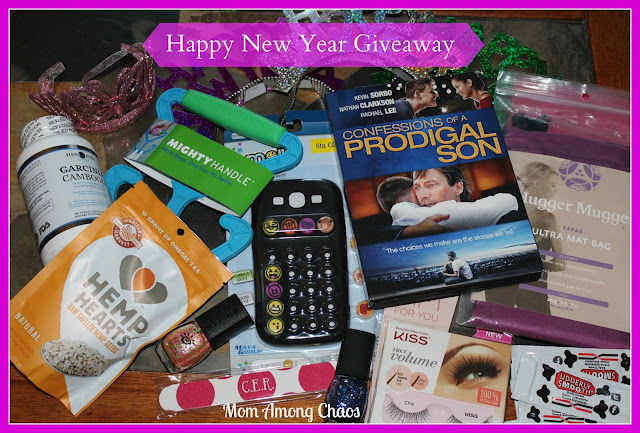 giveaway, giveaways, happy new year, Confessions of a Prodigal Son, phone case, Emoji icons, diet, giveaway, giveaways, beauty, food, #DelSolNailPolish, Udderly Smooth, Thirty-One Gifts, Hugger Mugger