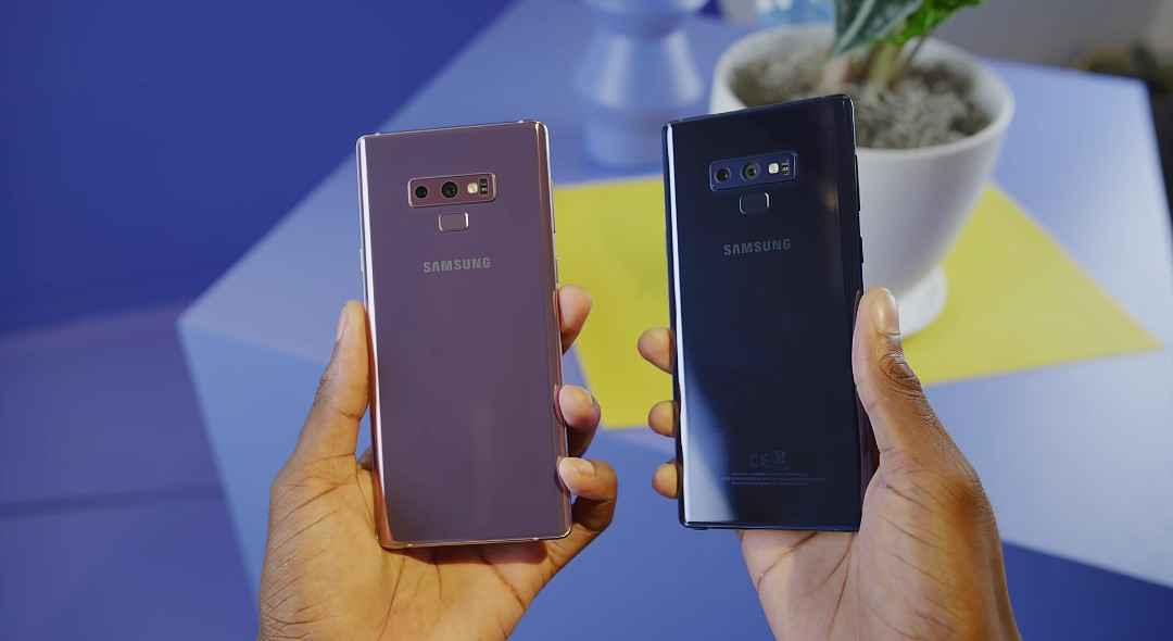 The Samsung Galaxy Note 9 Phones In Hand