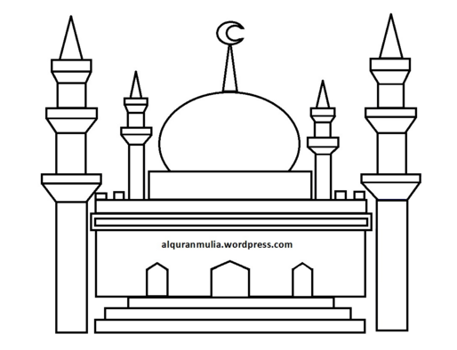 Masjid Kartun Hitam Putih Nusagates