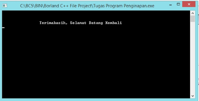 Output Program Selesai