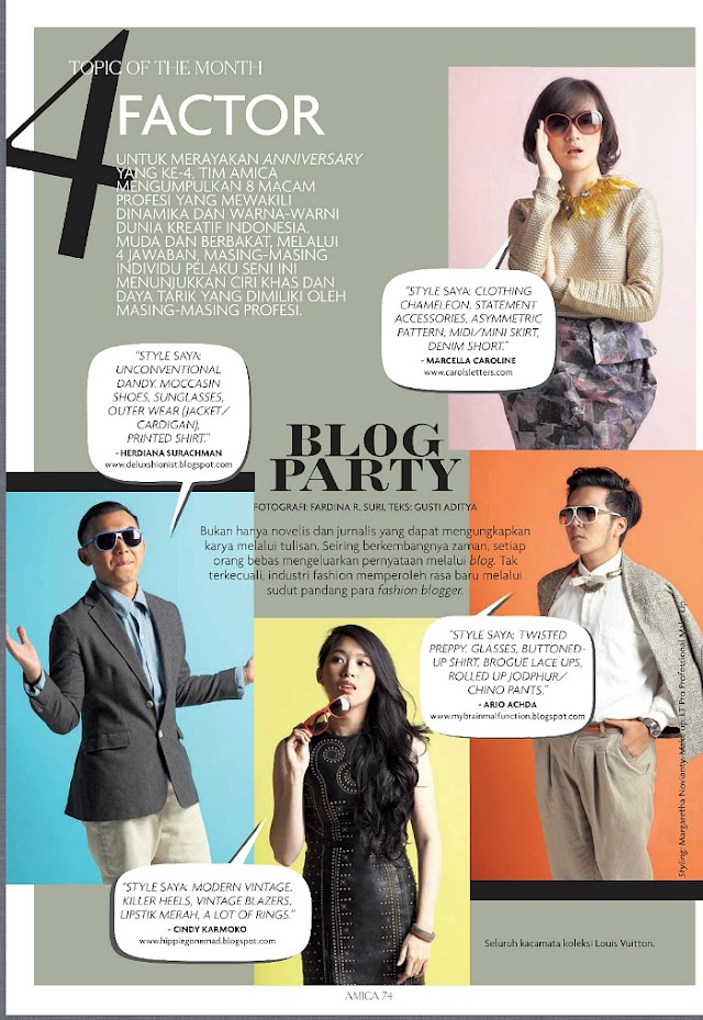 FEATURED ON AMICA INDONESIA 4TH ANNIVESARY ISSUE