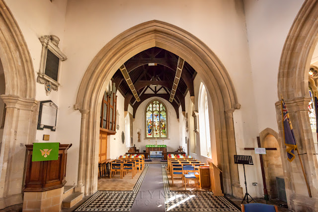 Interior of St Leonard's church in the Oxfordshire village of Eynsham by Martyn Ferry Photography