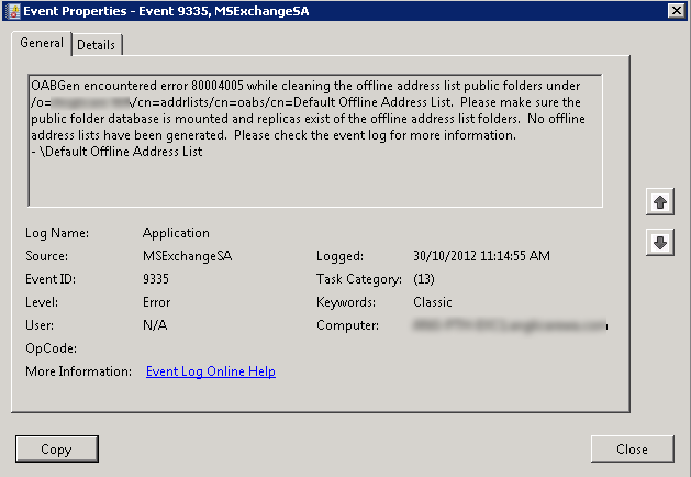 msexchange adaccess