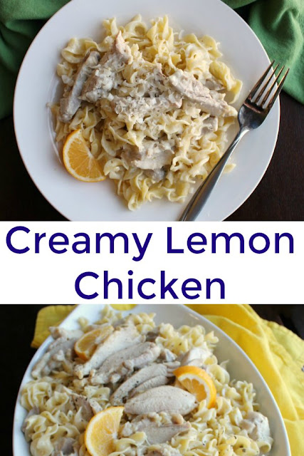 Creamy but bright and flavorful,  this lemony chicken recipe is a new favorite dinner. You are going to want some pasta or rice to soak up all the delicious sauce.
