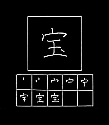 kanji treasure