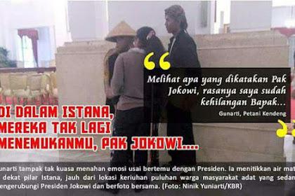 Petani Cor Kaki Menangis di Dalam Istana Kecewa Lihat Reaksi Jokowi Karena Ini...