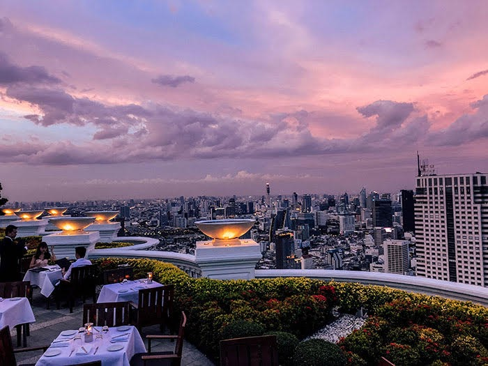 Bangkok | Cocktail trinken in der Sky Bar im Lebua at State Tower