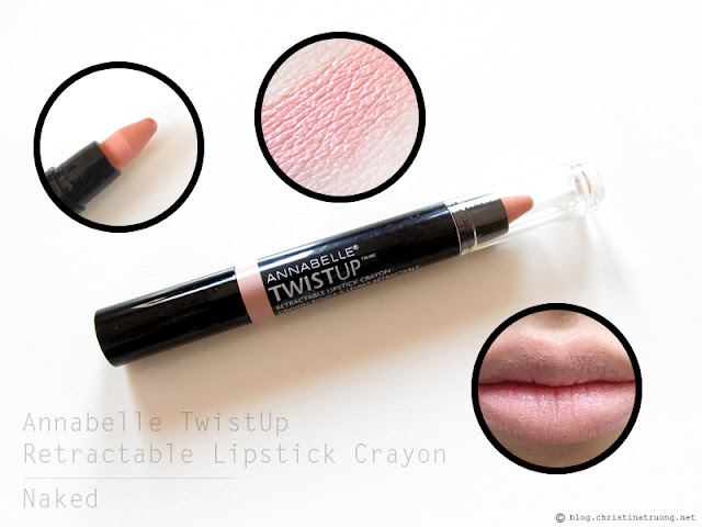 Annabelle Cosmetics TwistUp Retractable Lipstick Crayon Review and Swatch