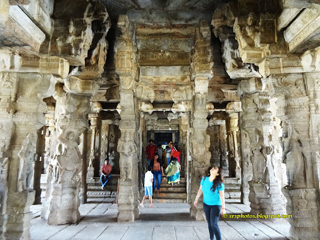 Beautiful Architecture towards the Main Shrine of the Temple, Anantapur, Andhra Pradesh, India srsphotos.blogspot.com