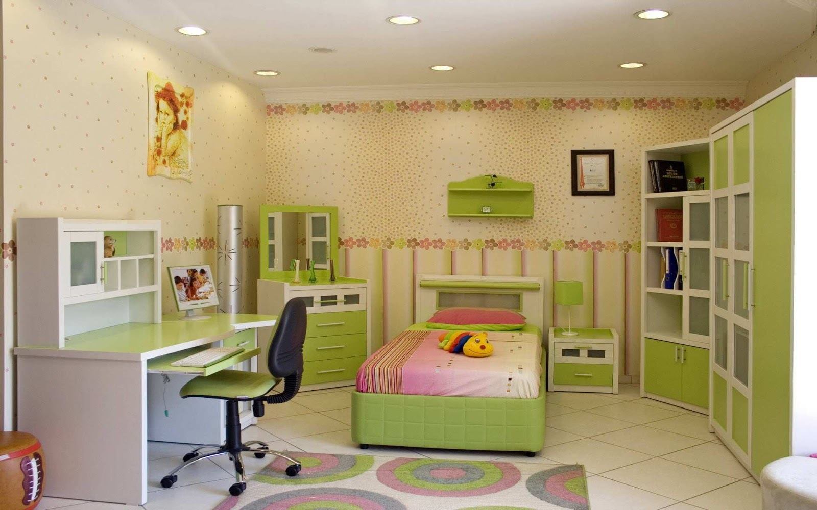Green Interior Design And Furnitures   House Design Green