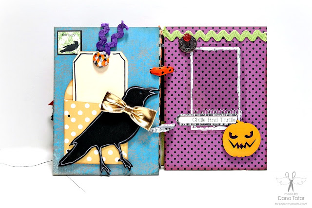 Dead Zone Halloween Mini Album Page 11 by Dana Tatar for Paper Wings Productions