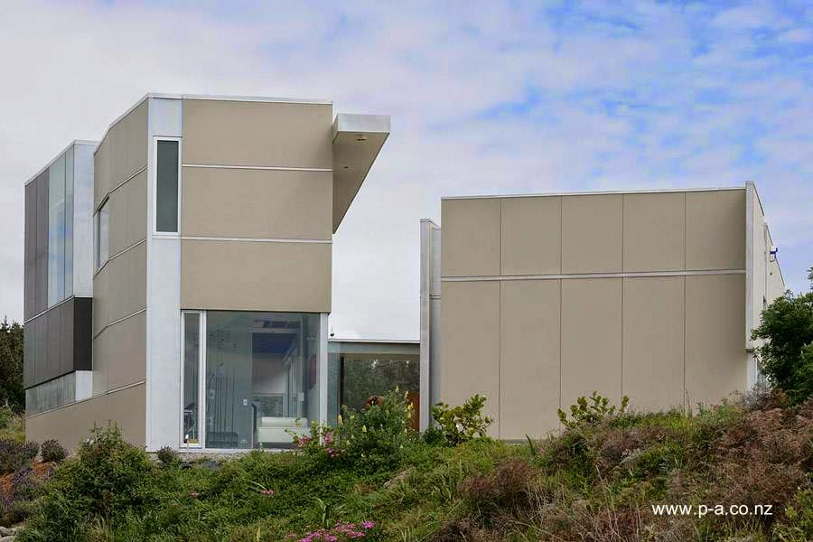Casa residencial contemporánea ampliada en Nueva Zelanda
