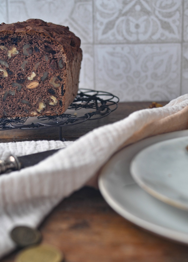 Sweet Walnut Bread, loaded with nuts and dried fruits - and it's gluten free, too!