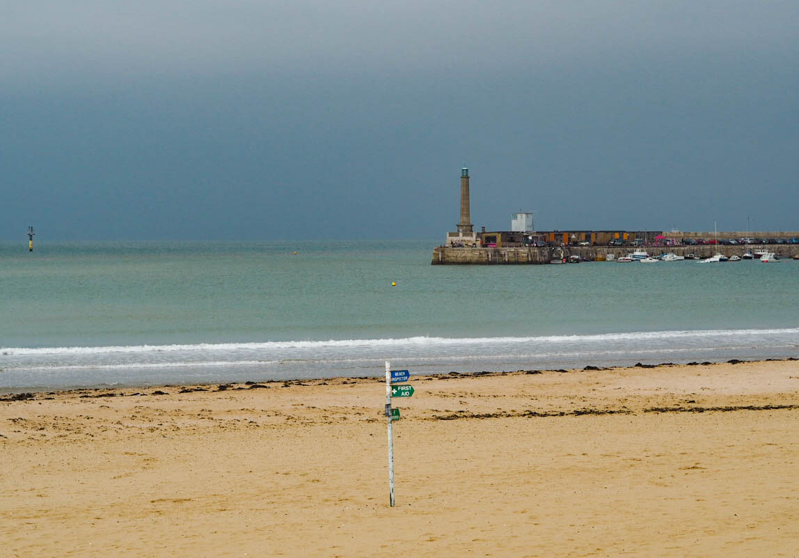Margate beach in winter