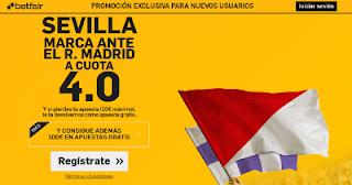 betfair supercuota 4 Sevilla marca al Real Madrid Supercopa Europa 9 agosto