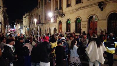 La Minga Indígena del Chocó continúa en Bogotá de manera indefinida y se extiende a todo el país