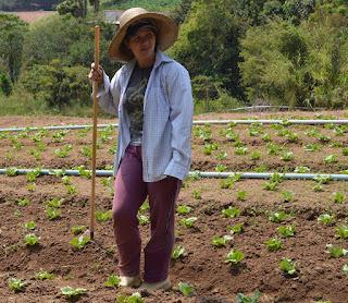 Agricultora, Luciana Freitas diz que a operação tapa-buracos vai diminuir a poeira e oferecer mais segurança