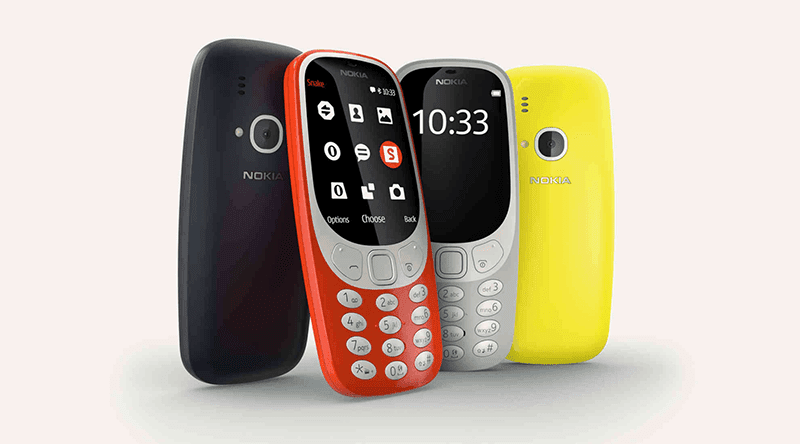 Different colors of Nokia 3310