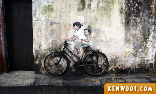 penang wall art mural