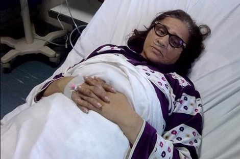 زهور السليماني تغادر المستشفى العسكري