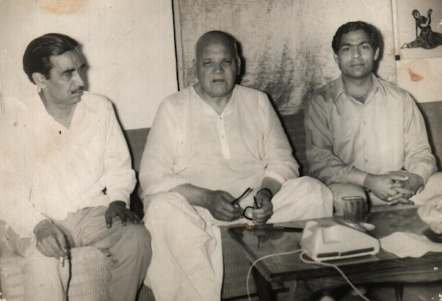 Shams Malik with Abdul Qayyum Khan