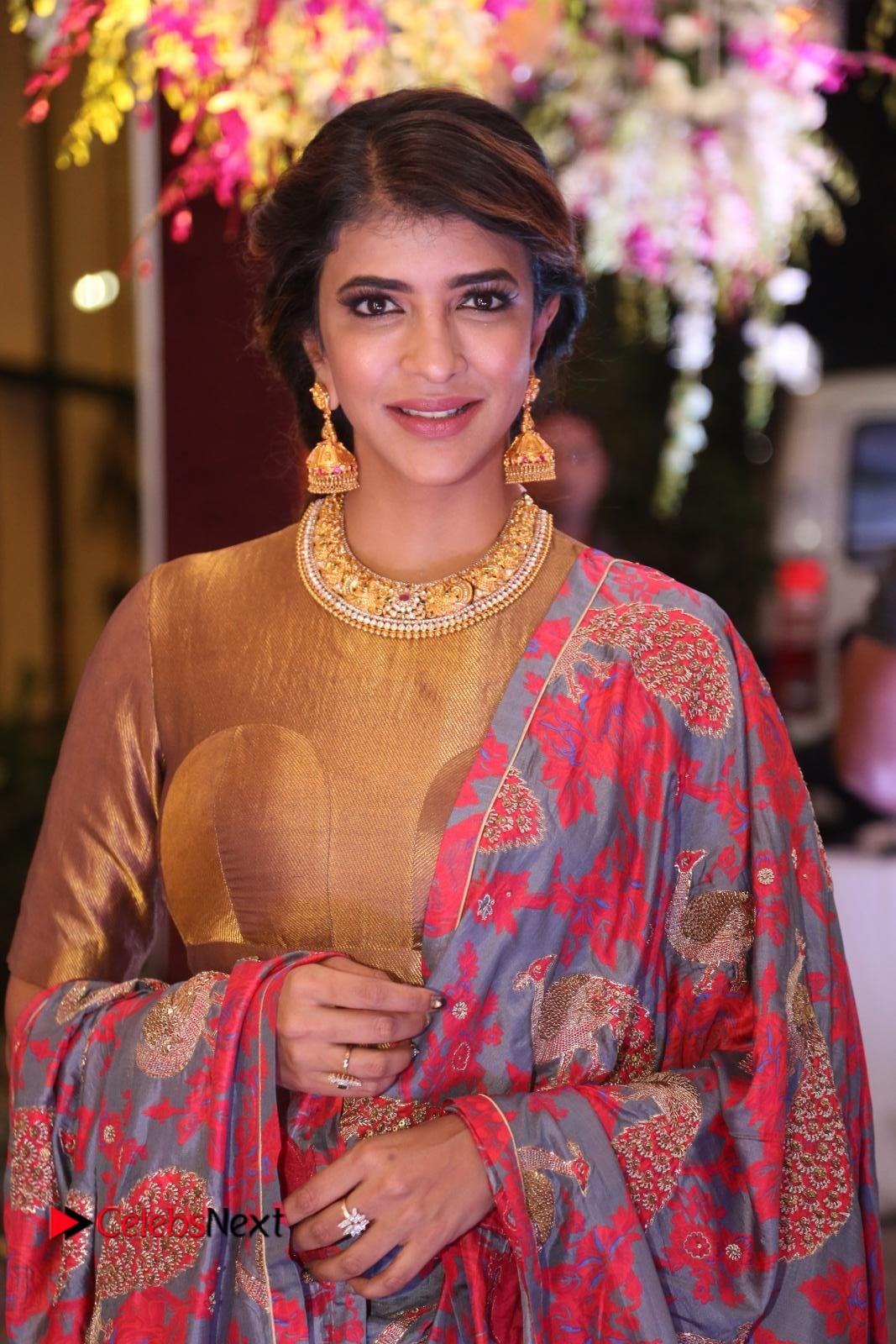 Lakshmi Manchu Stills at Sania Mirza Sister Wedding Reception