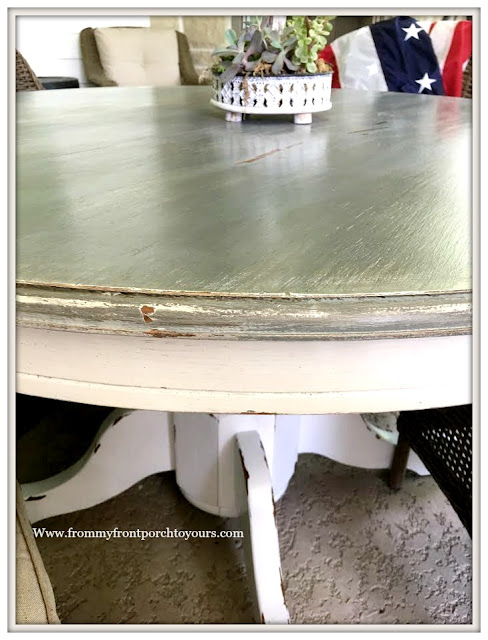 DIY-Round Dining Table-White Pedestal- from my front porch to yours