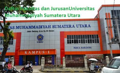 Daftar fakultas, jurusan dan program studi untuk diploma, doktor ,magister, sarjana UMSU Universitas Muhammadiyah Sumatera Utara Lengkap Terbaru