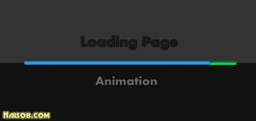 Membuat Animasi Loading Page Dark Style di Blog