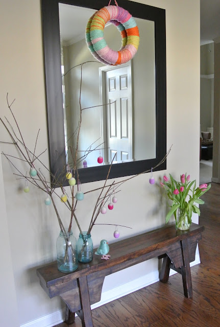 spring entryway decoration
