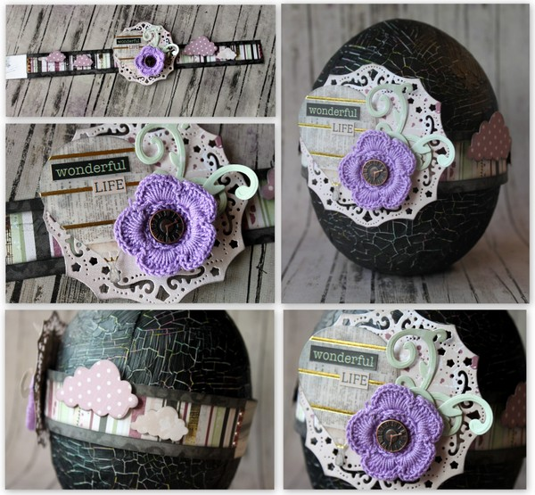 Easter Egg Alter by Ulrika Wandler using BoBunny Beautiful Dreamer Collection