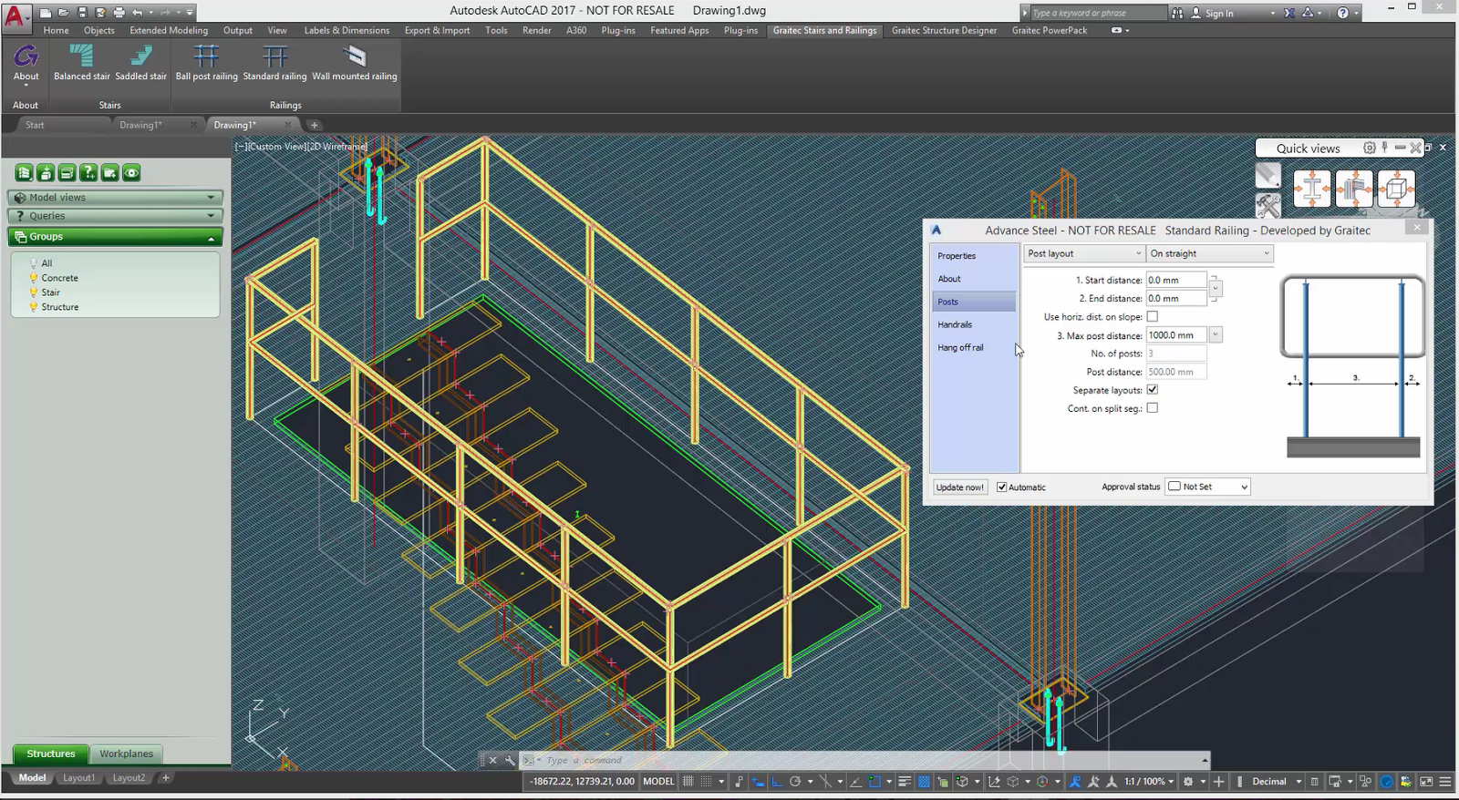 how to add railing to stairs revit