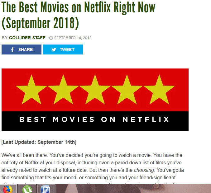 5 tools, NETFLIX  experience is better?