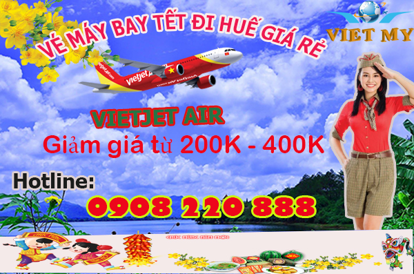 Vietjet giảm giá vé máy bay tết 2016 đi Huế