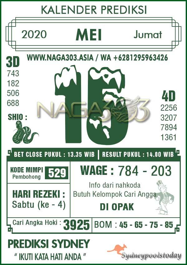 kalender prediksi naga303 togel sydney