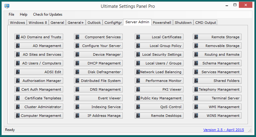 Ultimate Settings Panel Pro version 2.5 Released 9