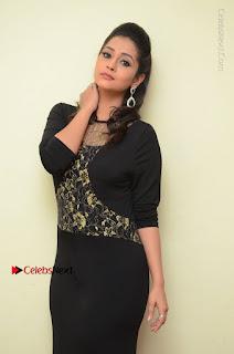 Telugu Actress Manasa Manohar Stills in Black Long Dress at Naku Nene Thopu Turumu Trailer Launch  0012.JPG